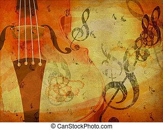 Grunge violin background