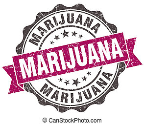 grunge, viooltje, marihuana, vrijstaand, zeehondje, witte