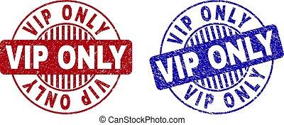 Grunge VIP ONLY Textured Round Stamp Seals
