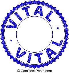 Grunge VITAL Textured Round Rosette Stamp Seal