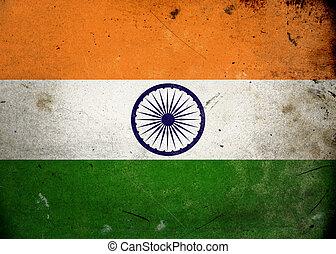 grunge, vlag, india