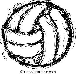 grunge volley ball