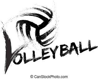 grunge, volley-ball, raies
