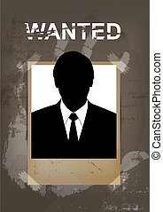 grunge wanted poster