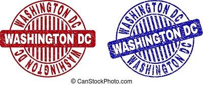 Grunge WASHINGTON DC Scratched Round Watermarks
