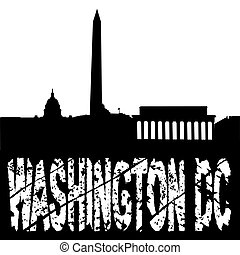 grunge washington DC with skyline