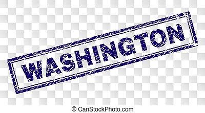 Grunge WASHINGTON Rectangle Stamp
