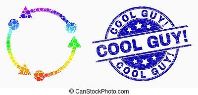 grunge, watermark, guy!, clair, vecteur, rotation, icône, pixel, frais