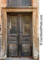 grunge weathered door