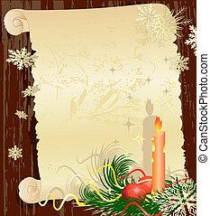 grunge, weihnachten, brief