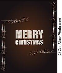 grunge, weinlese, abstrakt, abbildung, hintergrund., vektor, fröhlich, nachricht, weihnachten