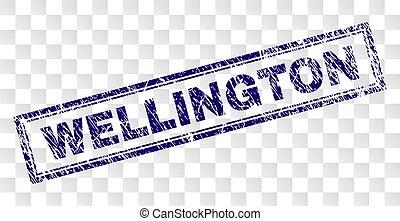 Grunge WELLINGTON Rectangle Stamp