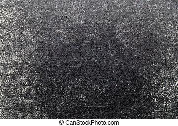 Grunge white color chalk texture on black board background