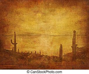 grunge, wild, achtergrond, west, landscape