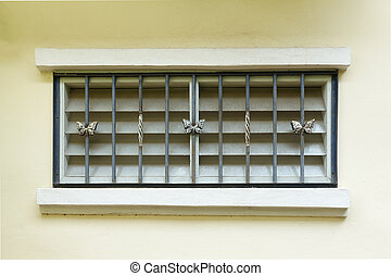 grunge window in the wall