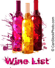 Grunge wine list template