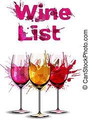 Grunge wine list template