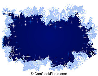 Grunge winter background with ice and snow