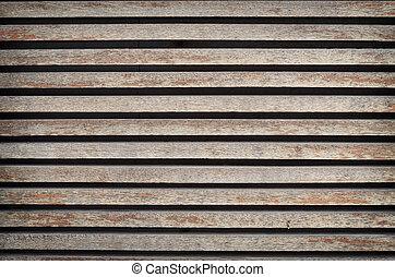 Grunge wood wall panel.