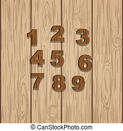 Grunge wooden numbers