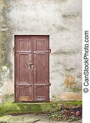 wooden plank door