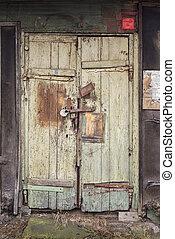 grunge wooden plank door