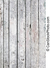 grunge wooden wall textured background. old boards painted white.