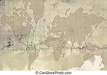Computer designed grunge world map background stock illustrations grunge world map gumiabroncs Gallery