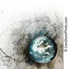 grunge world - abstract gray grunge background with...