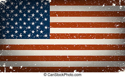 Grunge worn out vector american fla