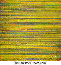 Grunge yellow wooden slatted background
