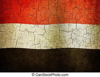 Grunge Yemen flag