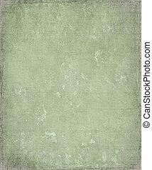 grunge, yeso, fondo verde, descolorido, marco