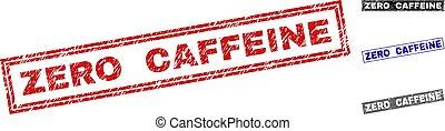 Grunge ZERO CAFFEINE Textured Rectangle Watermarks