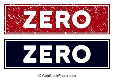 Grunge Zero Rectangle Stamp Seal