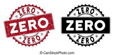 Grunge Zero Round Red Stamp