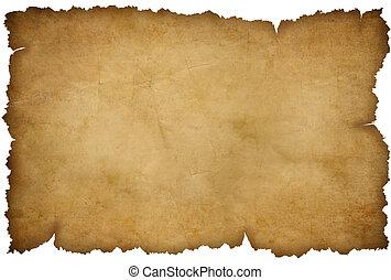 grunge, zerrissenen papier, freigestellt, weiß