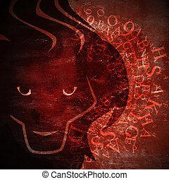 grunge zodiac sign - grunge art zodiac sign - leo