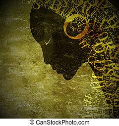 grunge zodiac sign - grunge art zodiac sign - virgo