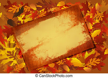 Grunged Fall Frame