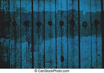 Blue grunge fence