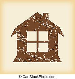 grungy, 家, 窓, アイコン