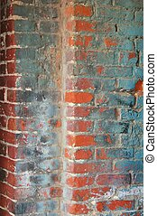 grungy, 牆, 磚