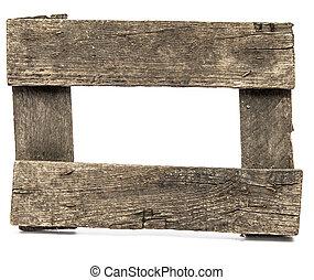 grungy, 空, frame., 非常に, rustic.