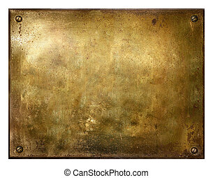 grungy, 黄铜, 拉过绒, 签署