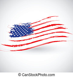 Grungy American Flag Background - illustration of Grungy...