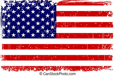 Grungy American Flag - illustration of American Flag with ...