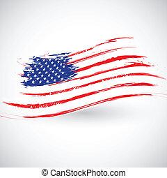 grungy, amerikaanse vlag, achtergrond
