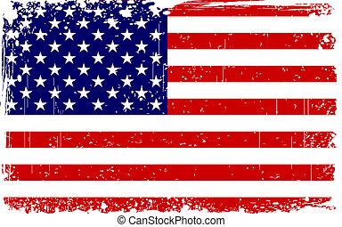 grungy, amerikanische markierung