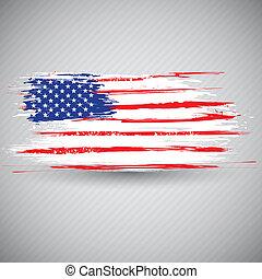 grungy, amerikanische markierung, hintergrund